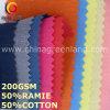 Festes Baumwollramiefaser-Form-Gewebe für Kleid-Gewebe (GLLML454)