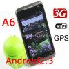 A6スマートな電話WCDMAアンドロイド2.3 WiFi Mtk6573 4.0インチの容量性タッチ画面