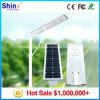 El alto lumen 30W integró todos en una luz de calle solar del LED con los mono paneles solares