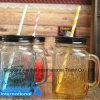 frasco de pedreiro 500ml de vidro com punho e palha