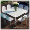 Openlucht Eetkamer Table Top met Tempered/Toughened Glass met Ce