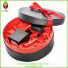 Caixa de papel preta rígida do perfume do presente do cilindro