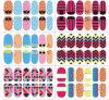 비독성 Glitter 프랑스 3D Art Nail Sticker Ladies