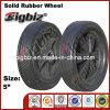 Rotella di gomma pneumatica pesante poco costosa per la riga della barra di rotella