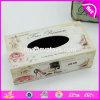 Baratos por atacado personalizam o suporte da caixa do tecido dos electrodomésticos/tampa de madeira W18A006