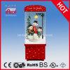 Decoración 2016 de la Navidad de la familia del muñeco de nieve que nieva con el LED