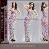 Платье женщин шикарным напечатанное цветком длиннее макси (TLL1079)