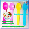 選り抜きのための相違のサイズのアイスクリームのペーパボールおよびアイスクリームのプラスチックスプーン