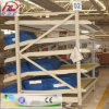 O espaço do armazém conserva a cremalheira de aço ajustável