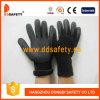 Перчатка Dnn459 Sandy черного нитрила законченный