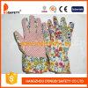 Het tuinieren Handschoenen. Roze Punten op Palm. De Rug van het Ontwerp van de bloem (DGB105)