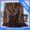 Écharpe estampée de femmes de POINT de polka de viscose de 100% longue (FS1190)