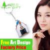 Soem-Förderung-Haus-geformtes Metall-PVC-Zollamt Keychain