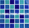 Mosaico di ceramica della piscina lustrato Crackle in tonalità blu (BCK010)