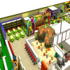 오락 Park Slide와 Climbing Kids Indoor Playground Enquipment