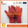 Roter Baumwollbohrgerät-Polka PUNKT Arbeits-Handschuh Dcd202