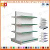 La fila 4 ha personalizzato la doppia scaffalatura laterale d'acciaio del supermercato della visualizzazione (Zhs514)