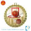 Medalla del recuerdo del baloncesto de la aleación del cinc con la etiqueta engomada impresa