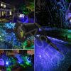Лазерный луч метеорного потока/лазерный луч сада зеленого цвета и сини