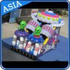 Inflatable esterno Alien Moonwalk per Children Entertainment
