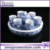 Ensemble de thé bleu et blanc de porcelaine de modèle chinois