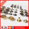 Botón de encargo del broche de presión del metal colores terminantes del control de calidad el 100% de los varios