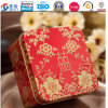 Custom quadrado Printed Embossed Tin Box para Wedding Candy Gift Packaging