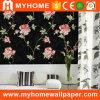 Papier peint de luxe de Wallcovering de vinyle noir pour la décoration de mur