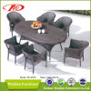 Wicker мебель, таблица сада (DH-6076)