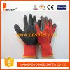 Nylon avec le pli Dnl111 de finition de caoutchouc spongieux de gants de polyester