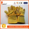 Перчатки Dlc203 Welder кожи ладони заплаты стандартной желтой коровы Ce степени Ab Split