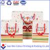 Bolsa de papel de encargo de la Navidad hecha a máquina directa de la fábrica