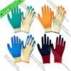 перчатка латекса Crinkle ладони работы безопасности 10gauge выровнянная хлопком покрытая, перчатки конструкции