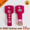 (YT 3213 빨간) 주문 Laser 조각 로고 키 USB 펜 드라이브