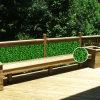 人工的な庭のプライバシーのプラスチックBoxwoodの両掛け