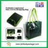 Mehrfachverwendbare lamellenförmig angeordnete faltbare Einkaufstasche