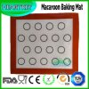Mat van het Baksel van het Silicone van de Glasvezel van de makaron Non-Stick Hittebestendige