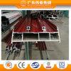 Porte coulissante en aluminium de double piste des graines en bois rouges