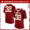 Uniformi rosse su ordine all'ingrosso di football americano a buon mercato (ELTFJI-66)
