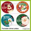 Placas de cena de la Navidad, placas de cena de cerámica, conjuntos del servicio de mesa