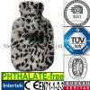 Leopardo caldo del coperchio della bottiglia di acqua della pelliccia del Faux della peluche del CE