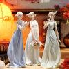 Señora decorativa Figurine (C-2033-A-B-C) de la manera moderna de la porcelana