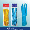 De kleurrijke Troep Gevoerde RubberHandschoenen van de Handschoenen van het Huishouden van het Latex