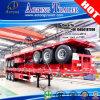 Трейлер палубы Tri контейнера Axles 2*20ft плоский для Конго