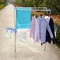 Extendable стеллаж для просушки одежд, складывая стойка вешалки нержавеющей стали