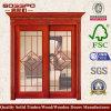 ヨーロッパの内部のガラス木のドア(XS3-017)
