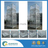 Container van het Netwerk van de Draad van de Opslag van het pakhuis de Opvouwbare met het Hangen van Type
