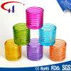 Suporte de vela de vidro de Tealight da forma colorida do cilindro (CHZ8004)