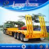 3 Radachse 4 Axle Low Bed Trailer mit Side Extension