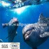De onderwater Muur van de Stijl van de Dolfijnen van de Muurschildering van het Behang van de Wereld